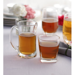 Ocean Celebration 8-piece Beer and Whisky Glass Set