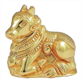 Beautifully Carved Handmade Brass Nandi Sculpture
