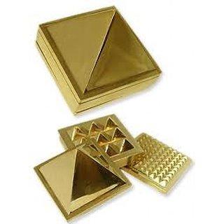 Golden Plated Brass Vastu Pyramid Yantra