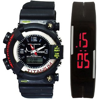 TRUE COLORS MTG SHOCK  LED SPORTS COMBO FOR REAL MEN Digital Watch - For Boys, Men, Couple