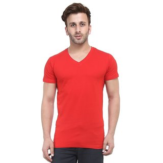 f8f0f9d09 Buy Tripr Mens V-Neck Tshirt Red Online   ₹299 from ShopClues