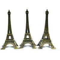 Jaycoknit  Royal Eiffel Tower Showpiece Set Of 3-(13 Cm Each)
