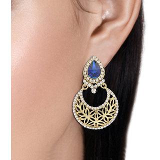 R18Jewels-FashionU Multi,Blue,Gold,Silver Non Plated Chandbali For Women
