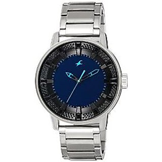 Fastrack Quartz Blue Dial Mens Watch-3137SM01