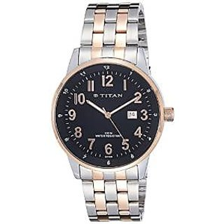 Titan Quartz Black Dial Mens Watch-9441KM01