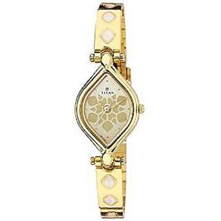 Titan Quartz Silver Dial Women Watch-9639YM09