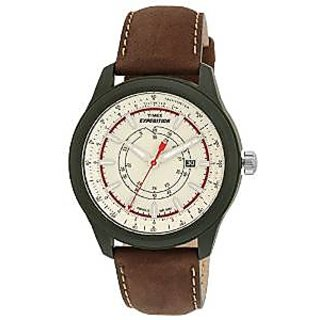 Timex Quartz White Dial Mens Watch-T49921