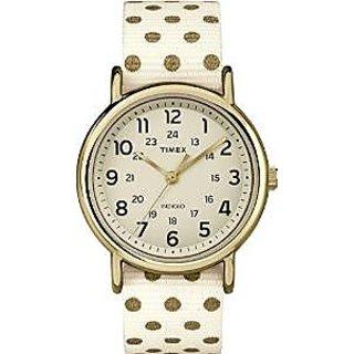 Timex Quartz Beige Dial Women Watch-TW2P661006S