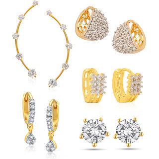 Jewels Galaxy Non Plated White Hoop Earring ForWomen-JG-CB-BLL-28
