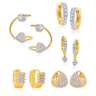 Jewels Galaxy Non Plated White Hoop Earring ForWomen-JG-CB-BLL-30