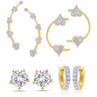 Jewels Galaxy Non Plated White Hoop Earring ForWomen-JG-CB-BLL-31