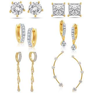 Jewels Galaxy Non Plated White Hoop Earring ForWomen-JG-CB-BLL-45