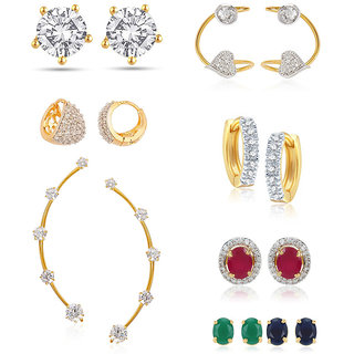 Jewels Galaxy Non Plated Multi Hoop Earring ForWomen-JG-CB-BLL-51