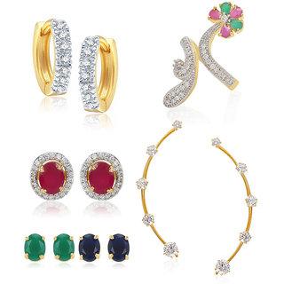 Jewels Galaxy Non Plated Multi Hoop Earring ForWomen-JG-CB-BLL-55