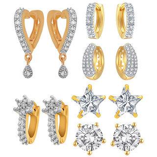 Jewels Galaxy Non Plated White Hoop Earring ForWomen-JG-CB-BLL-58
