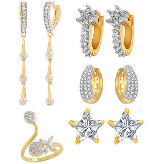 Jewels Galaxy Non Plated White Hoop Earring ForWomen-JG-CB-BLL-69