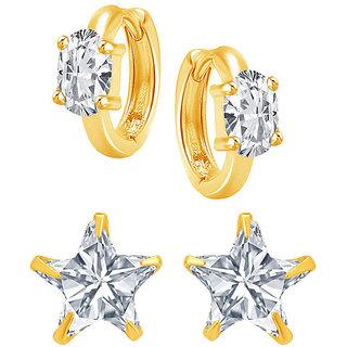 Jewels Galaxy Non Plated White Hoop Earring ForWomen-JG-CB-BLL-70