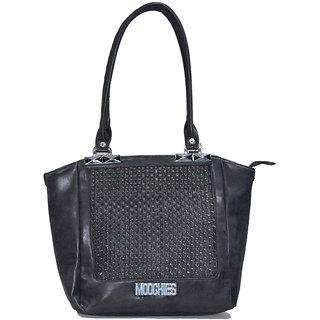 Moochies Black ladies Leatherite handbag emzmocfoampurseN1black