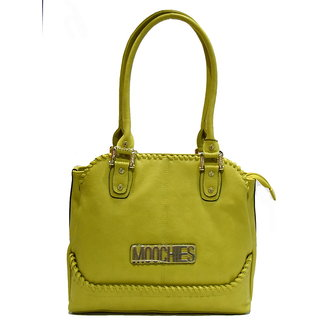 Moochies Green ladies Leatherite handbag emzmocfoampurseN20green