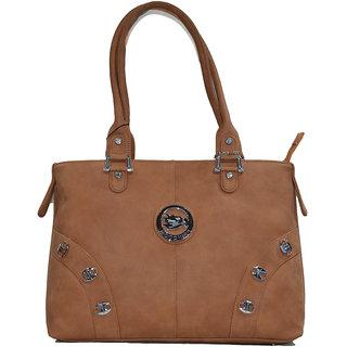 Moochies tan ladies Leatherite handbag emzmocfpN6tan