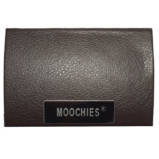 Moochies Leatherette Brown Card Holder emzmocch004brown