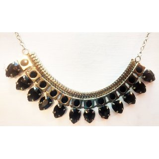 black drop necklace, alloy metal fashion jewellery