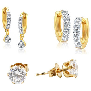 Jewels Galaxy Non Plated White Hoop Earring ForWomen-JG-CB-BLL-11
