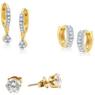 Jewels Galaxy Non Plated White Hoop Earring ForWomen-JG-CB-BLL-3