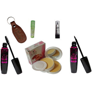 ADS 1625 Eyeliner, Mascara, Kajal, Compact Powder, Lip Gloss with Ashra Keychain