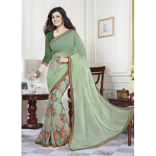 paridhan couture Multicolor Georgette Self Design Saree With Blouse