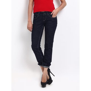 Lee Blue Norma Mid Tight Straight Fit Jeans -LEJN0785
