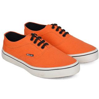 Wega Life VIOS Orange/Black Canvas Casual Shoes