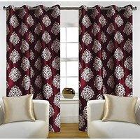 Story@Home Maroon 1 pc Door curtain-7 feet(DTA1208-S)