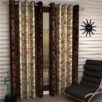 Story@Home Brown 1 pc Door curtain-7 feet(DTA1209-S)