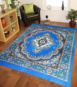k decor Polyester carpet (55x75 inches) Blue-1pc(pk-006)