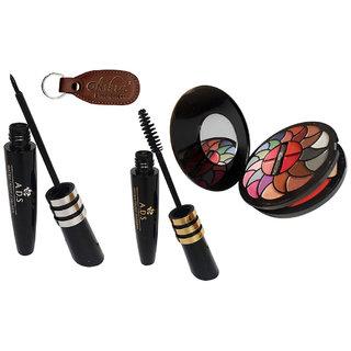 ADS Eyeliner, Mascara, 8188 Makeup Kit with Ashra Keychain