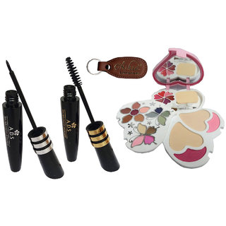 ADS Eyeliner, Mascara, 3956 Makeup Kit with Ashra Keychain