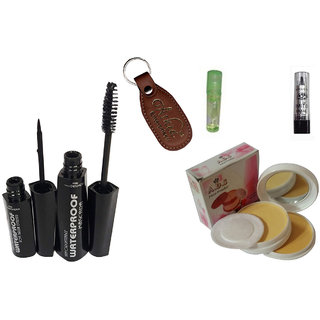 ADS 1620 Eyeliner, Mascara, Kajal, Compact Powder, Lip Gloss with Ashra Keychain