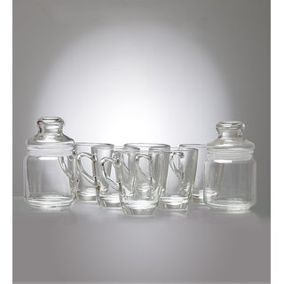 Ocean Coffee Time 8-piece Cups and Jar Set