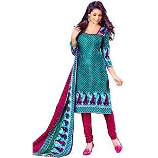 Pari Fashion Cotton Printed Salwar Suit Dupatta Material Un stitched