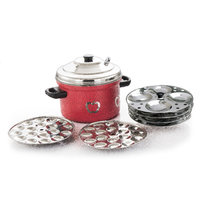 Klassic Vimal Red  Apple Coloured Idly Cooker