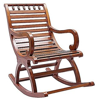 Shilpi Amazing Hand Carved Rocking Chair Sheesham Wood