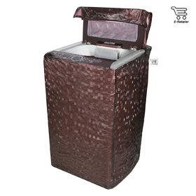 E-Retailer Classic  Brown colour square design Top Load Washing Machine Cover
