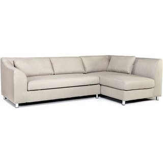 Fab Home Decor Mia Five Seater Sectional Sofa Cream