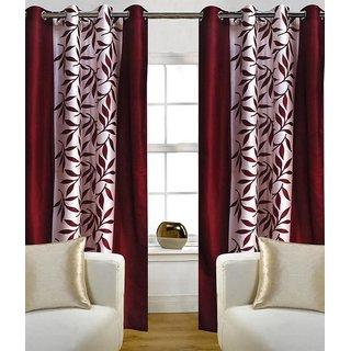 iLiv Maroon Kolaveri Window Curtains -set of 2