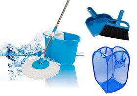 Magic Mop 360 degree with Dustpan  Laundry Bag