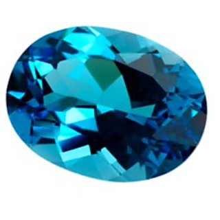 6.25 ratti   blue  topaz gemstone  with lab certified