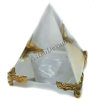 Crystal Pyramid on stand