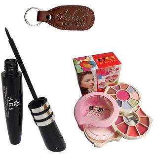 ADS 1598 Eyeliner, 3926 Makeup Kit with Ashra Keychain
