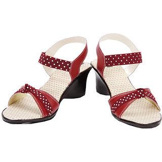 Azores Maroon Stylish Sandals